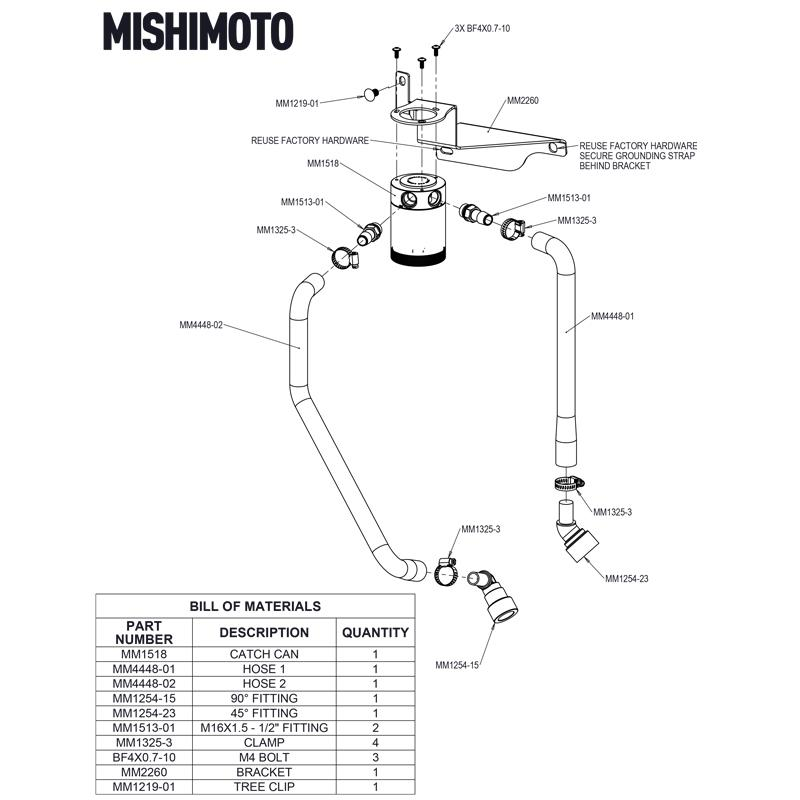 Mishimoto MMBCC-F150-11PBE Black Ford F-150 V8 Baffled Oil Catch Can 2011-2014