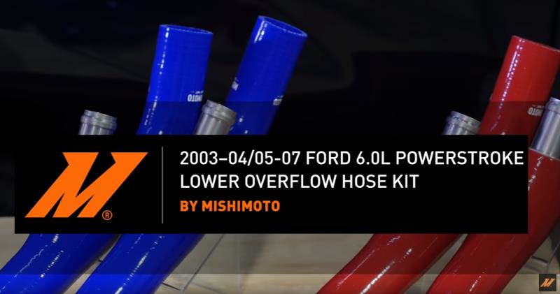 05-07 FORD 6.0L DIESEL MISHIMOTO LOWER COOLANT OVERFLOW HOSE.