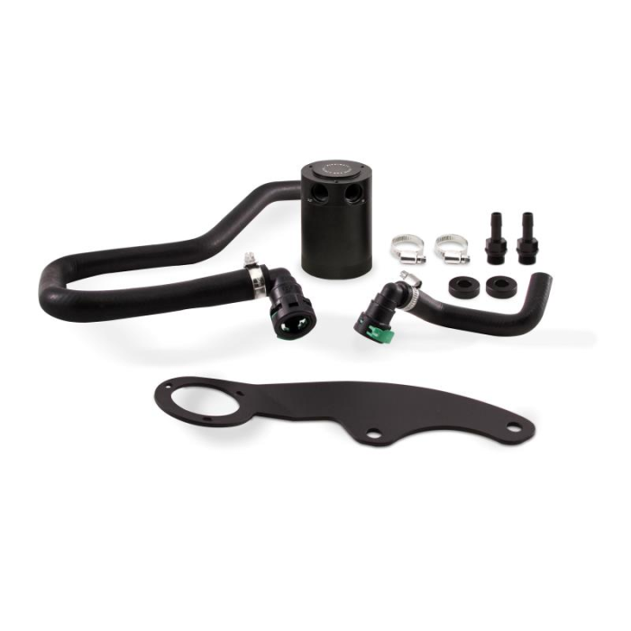 Baffled Oil Catch Can Kit, PCV Side, fits Ford Mustang GT 2011–2014