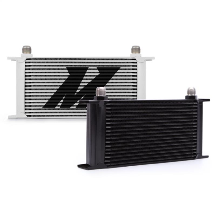 White Mishimoto MMOC-19WT Universal 19 Row Oil Cooler