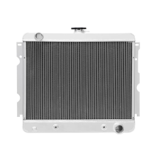 "Plymouth Barracuda Small Block 3-Row Performance Aluminum Radiator w/ 22"" Core, 1970–1973"