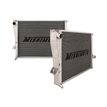"Mishimoto 18.43"" x 25.71"" Single Pass 2-Row Race Aluminum Radiator"