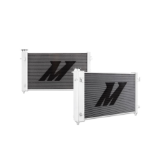 "Mishimoto 19.65"" x 31.95"" Single Pass 2-Row Race Aluminum Radiator"