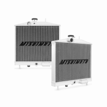 "Mishimoto 16.73"" x 15.04"" Single Pass 2-Row Race Aluminum Radiator"