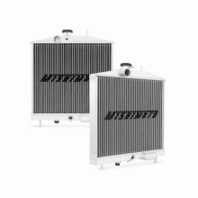 "Mishimoto 17.99"" x 15.12"" Single Pass 2-Row Race Aluminum Radiator"
