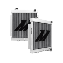 "Mishimoto 21.85"" x 19.69"" Single Pass 2-Row Race Aluminum Radiator"