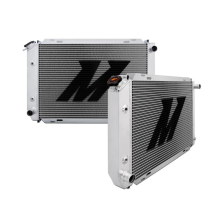"Mishimoto 18.6"" x 29.3"" Single Pass Automatic 2-Row Race Aluminum Radiator"