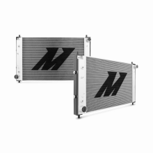 "Mishimoto 19.76"" x 31.57"" Single Pass Automatic 2-Row Race Aluminum Radiator"