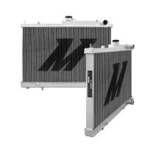"Mishimoto 21.8"" x 26.4"" Single Pass 2-Row Race Aluminum Radiator"