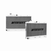 "Mishimoto 21.8"" x 28.1"" Single Pass 2-Row Race Aluminum Radiator"