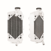 Kawasaki KX450F Braced Aluminum Dirt Bike Radiator, Right, 2008