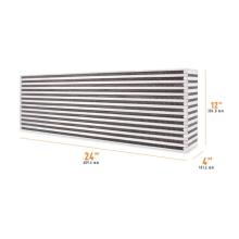 Universal Air-to-Air Race Intercooler Core 609.9mm x 304.8mm x 101.6mm