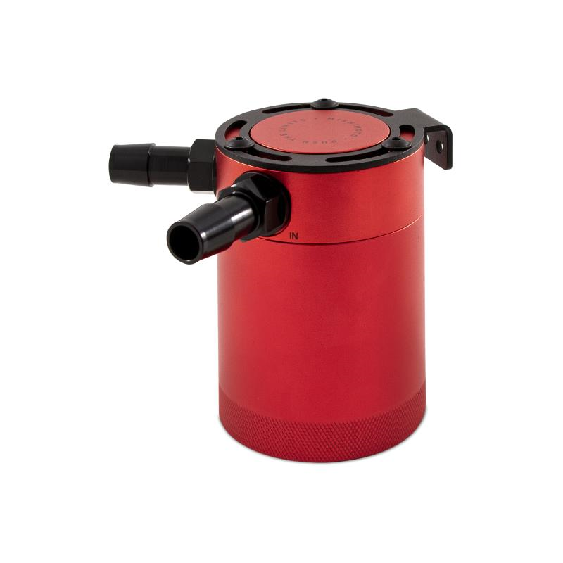Red Mishimoto Baffled Oil Catch Can