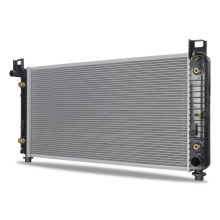 "GMC Yukon w/ 34"" Core, Transmission Oil Cooler, and Engine Oil Cooler Replacement Radiator, 2000-2014"
