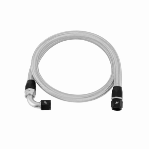 4ft Stainless Steel Braided Hose w/ -10AN Fittings