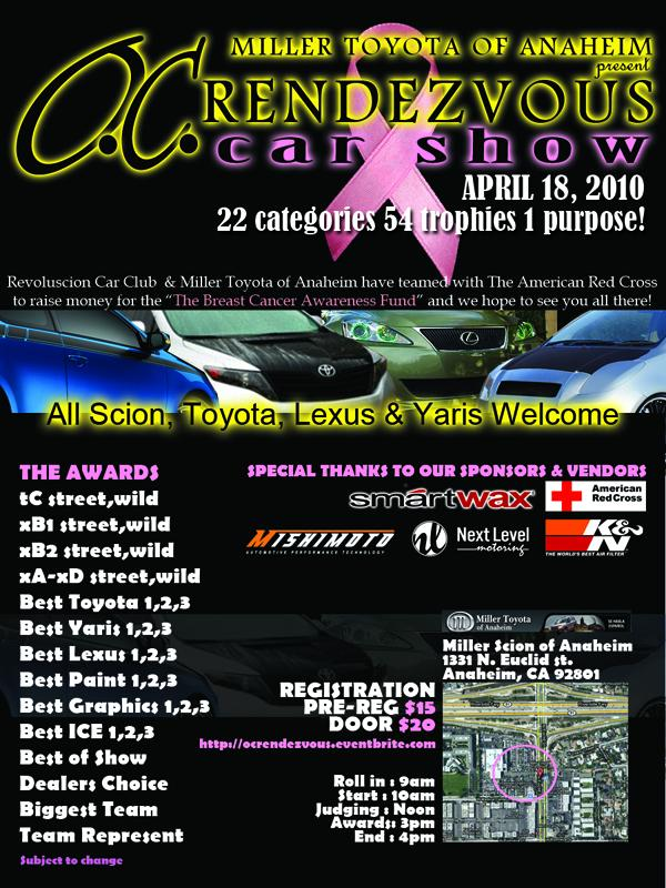 Mishimoto Sponsors The Rendezvous Series Car Show - Car show trophy categories